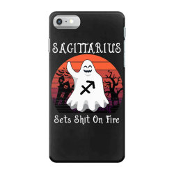 Vintage Ghost Zodiac Sagittarius Funny Halloween Birthday Gift iPhone 7 Case | Artistshot