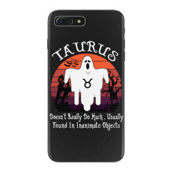 Vintage Ghost Zodiac Taurus Funny Halloween Birthday Gift iPhone 7 Plus Case | Artistshot
