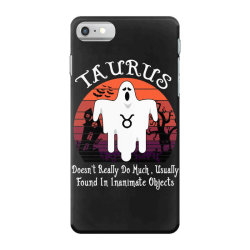 Vintage Ghost Zodiac Taurus Funny Halloween Birthday Gift iPhone 7 Case | Artistshot
