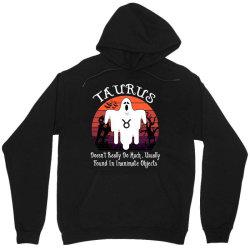 Vintage Ghost Zodiac Taurus Funny Halloween Birthday Gift Unisex Hoodie | Artistshot