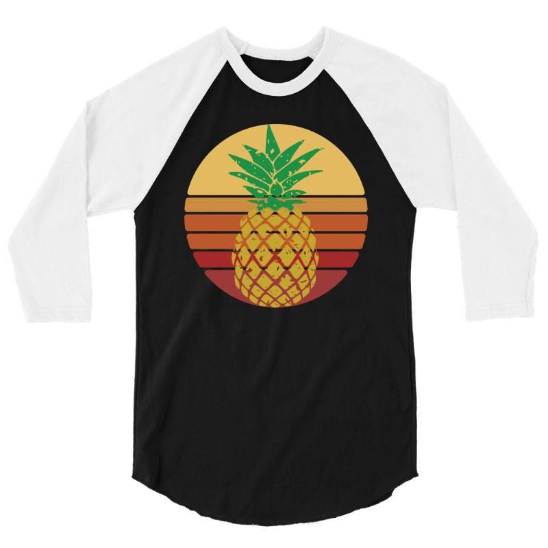 Sunset Pineapple Style 3/4 Sleeve Shirt | Artistshot