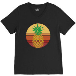 Sunset Pineapple Style V-Neck Tee | Artistshot