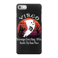 Vintage Ghost Zodiac Virgo Funny Halloween Birthday Gift iPhone 7 Case | Artistshot