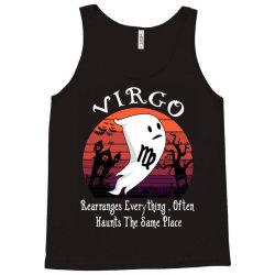 Vintage Ghost Zodiac Virgo Funny Halloween Birthday Gift Tank Top   Artistshot