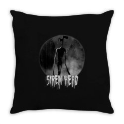 scary siren head vintage meme character Throw Pillow | Artistshot