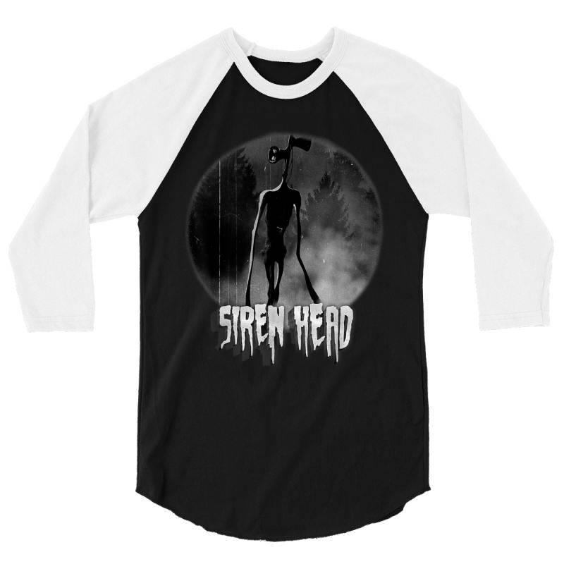 Scary Siren Head Vintage Meme Character 3/4 Sleeve Shirt | Artistshot