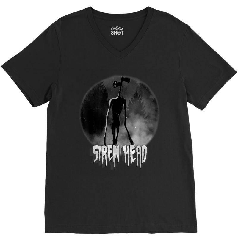 Scary Siren Head Vintage Meme Character V-neck Tee | Artistshot