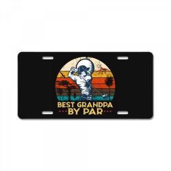 best grandpa by par golf License Plate | Artistshot