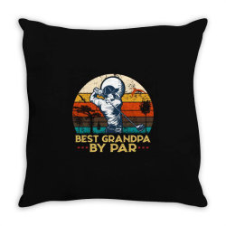 best grandpa by par golf Throw Pillow | Artistshot
