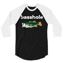 bassshole funny fishing 3/4 Sleeve Shirt | Artistshot