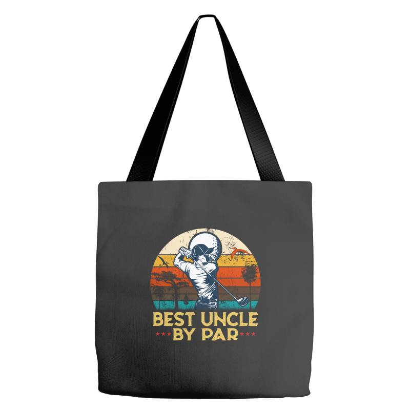 Best Uncle By Par Uncle Play Golf Tote Bags   Artistshot