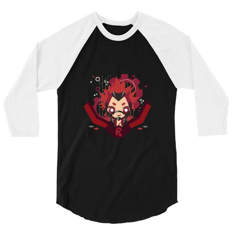 My Hero Academia _ Boku No Hero Academia _ Red Riot _ Eijiro Kirishima 3/4 Sleeve Shirt   Artistshot