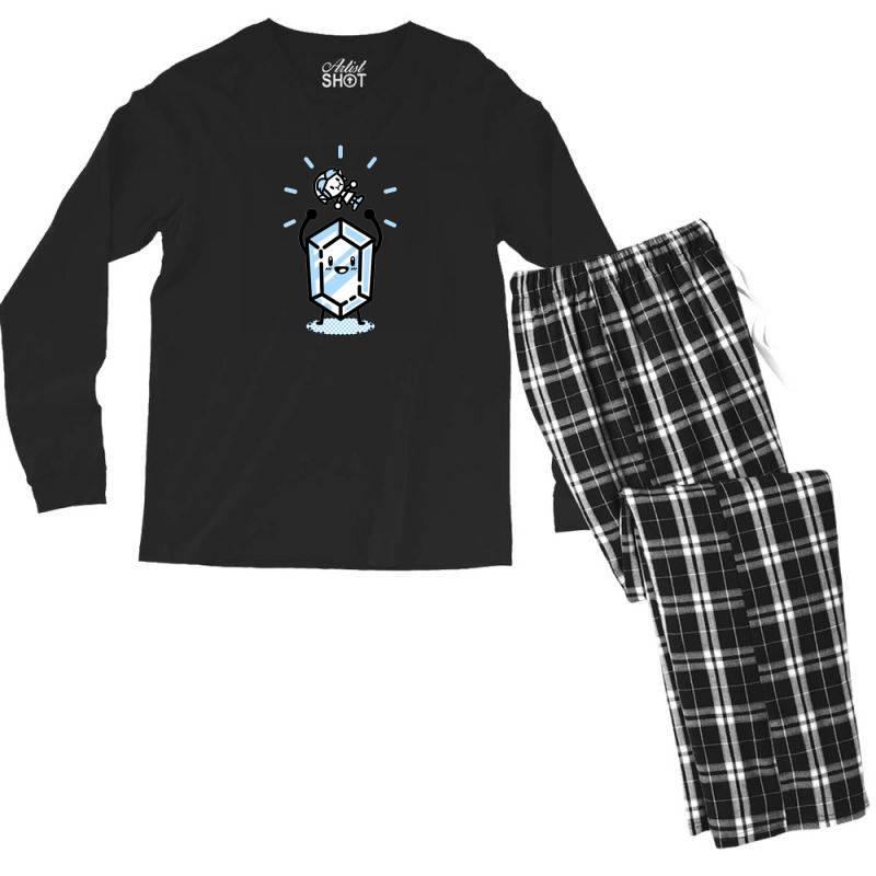 Blue Rupee Finds A Link Men's Long Sleeve Pajama Set | Artistshot