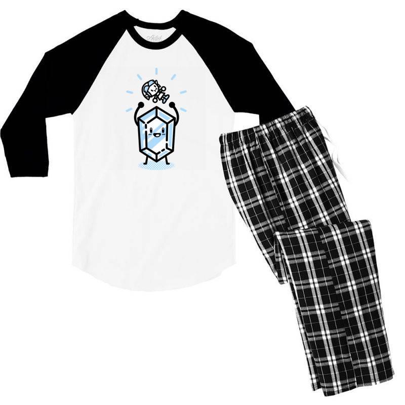 Blue Rupee Finds A Link Men's 3/4 Sleeve Pajama Set | Artistshot