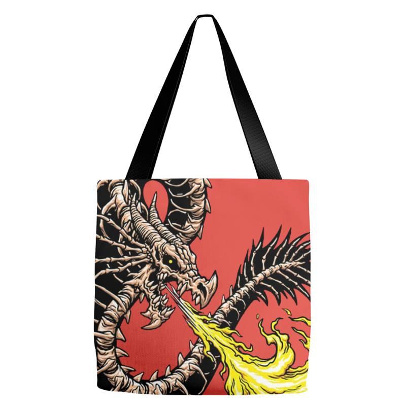 Bone Dragon Tote Bags   Artistshot