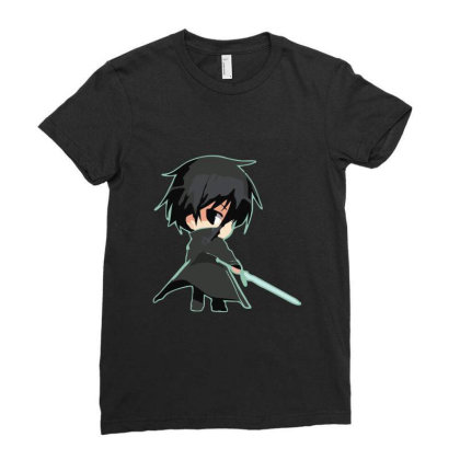 Sword Art Online _ Kirito Ladies Fitted T-shirt Designed By Dc47
