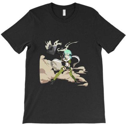 Sword Art Online _ Sinon T-shirt Designed By Dc47