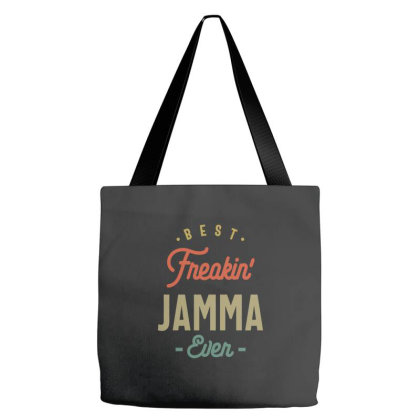 Best Freakin' Jamma Ever - Grandma Mother Gift Tote Bags Designed By Cidolopez