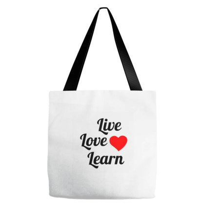 Live Love Learn Tote Bags Designed By Perfect Designers
