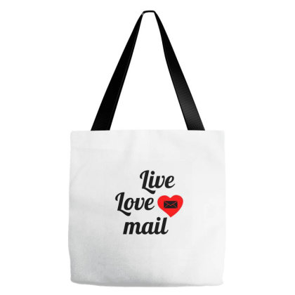 Live Love Mail Tote Bags Designed By Perfect Designers