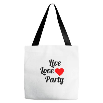 Live Love Party Tote Bags Designed By Perfect Designers