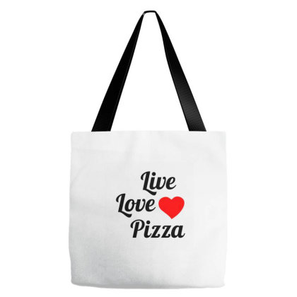 Live Love Pizza Tote Bags Designed By Perfect Designers