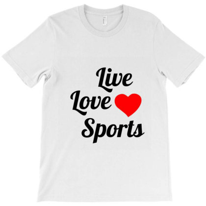 Live Love Sports Black T-shirt Designed By Perfect Designers