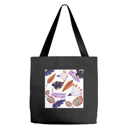 Colourful Leaves Tote Bags Designed By American Choice