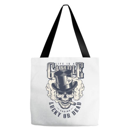 Casino, Lucky Or Dead, Skull Tote Bags Designed By Estore