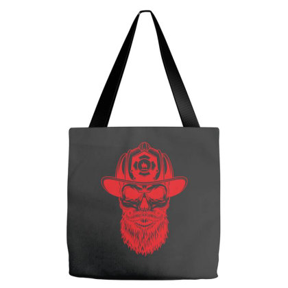Fireman Skull Tote Bags Designed By Estore