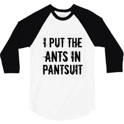 Ants In Pantsuit 3/4 Sleeve Shirt Designed By Perfect Designers