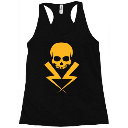 Electricity Skull Funny Racerback Tank Designed By Anma4547
