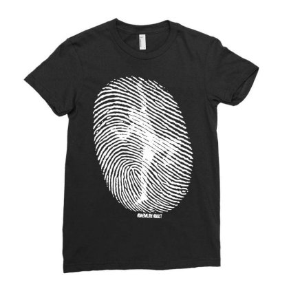 Fingerprint Climber Ladies Fitted T-shirt Designed By Lyly