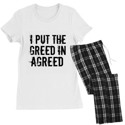 Greed In Agreed Women's Pajamas Set Designed By Perfect Designers