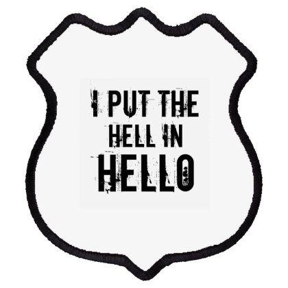 Hell In Hello Shield Patch Designed By Perfect Designers