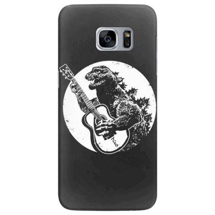 Godzilla Playing Guitar Samsung Galaxy S7 Edge Case Designed By Lyly