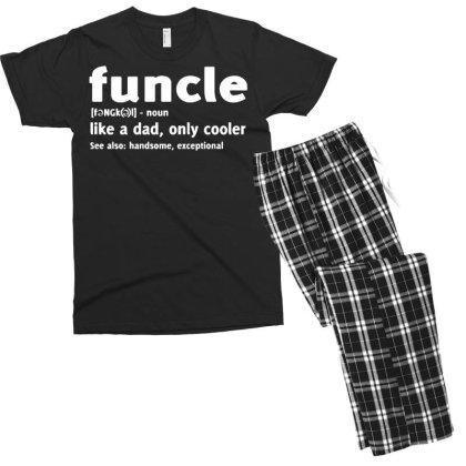 Funcle Fun Uncle Men's T-shirt Pajama Set Designed By Lyly