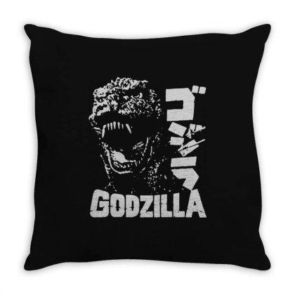 Godzilla Throw Pillow Designed By Lyly