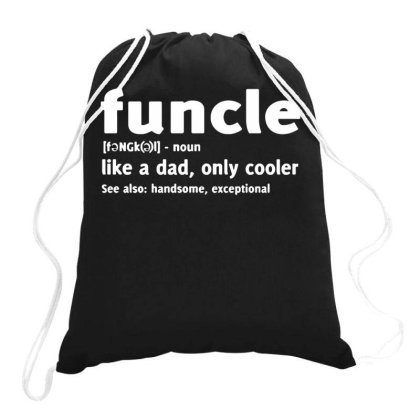 Funcle Fun Uncle Drawstring Bags Designed By Lyly