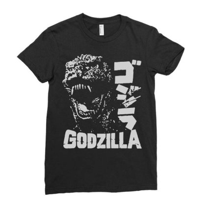 Godzilla Ladies Fitted T-shirt Designed By Lyly