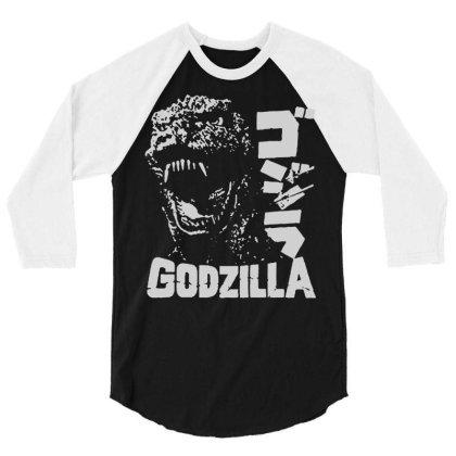 Godzilla 3/4 Sleeve Shirt Designed By Lyly