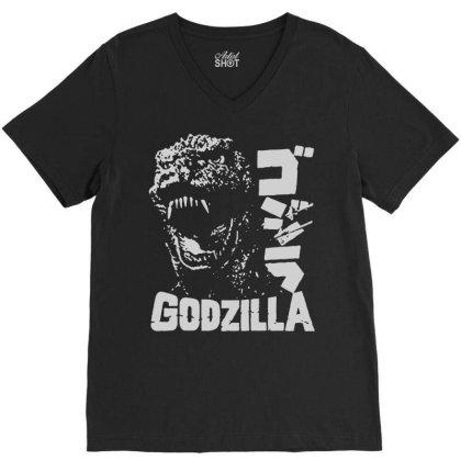 Godzilla V-neck Tee Designed By Lyly
