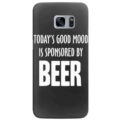Good Mood Sponsored By Beer Samsung Galaxy S7 Edge Case Designed By Lyly