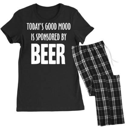 Good Mood Sponsored By Beer Women's Pajamas Set Designed By Lyly
