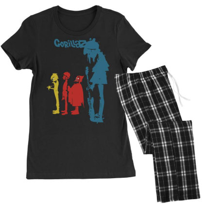 Gorillaz   Rock The House Women's Pajamas Set Designed By Lyly