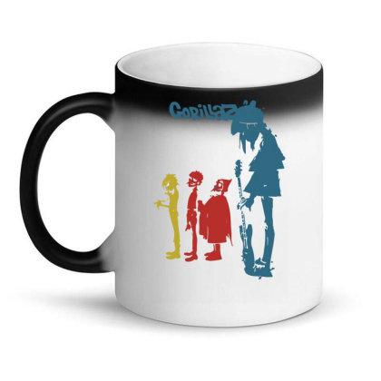 Gorillaz   Rock The House Magic Mug Designed By Lyly