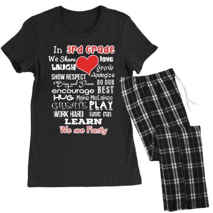 3rd Grade We Are Family Women's Pajamas Set Designed By Love Shiga