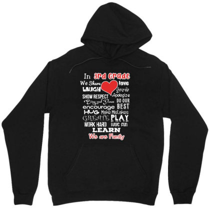 3rd Grade We Are Family Unisex Hoodie Designed By Love Shiga
