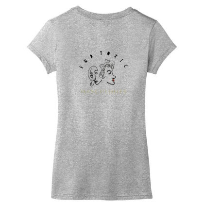 End Toxic Masculinity Women's V-neck T-shirt Designed By Oyaarnola