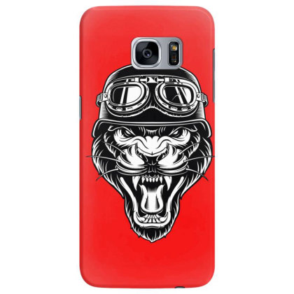 Biker Animal Angry Tiger Samsung Galaxy S7 Edge Case Designed By Chiks